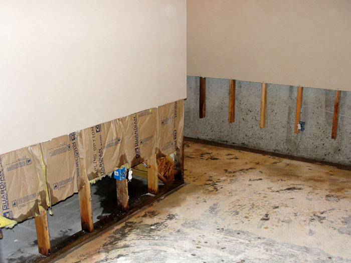 ... Once the drywall has been cut away and all other damaged wood studs and insulation have ... & Basement Wall Restoration In Manchester Boston Lowell MA and NH ...