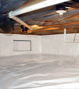 A complete crawl space repair system in Lynn