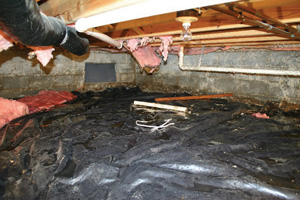 Crawl Space Repair Before in Boston