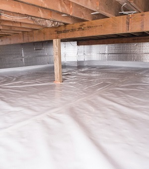Installed crawl space insulation in Methuen