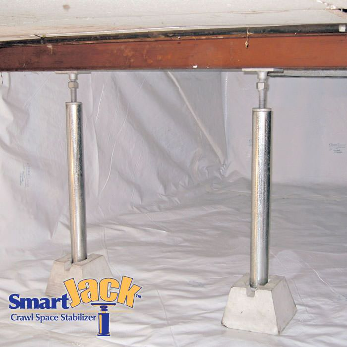 Crawl Space Structural Support Jacks Installed In Boston