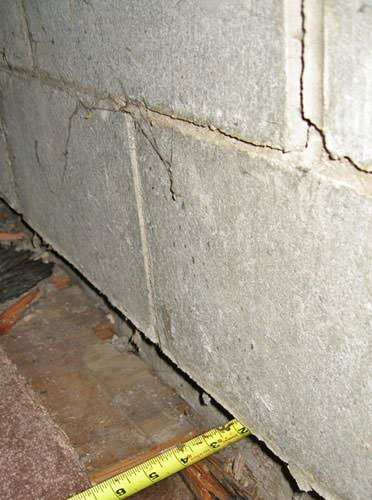 Bowing foundation wall repairs in massachusetts new hampshire foundation wall separating from the floor in chelsea home solutioingenieria Choice Image
