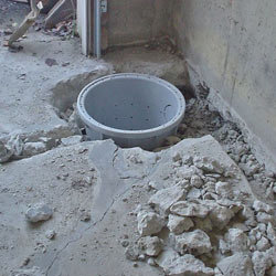 Placing a sump pit in a Arlington home