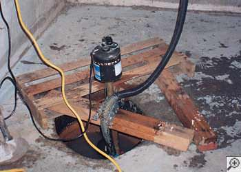 A Methuen sump pump system that failed and lead to a basement flood.