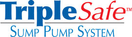 Sump pump system logo for our TripleSafe, available in areas like Lexington