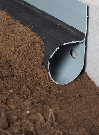 crawl space drain system installed in Concord