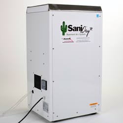 the sanidry xp basement dehumidifier system