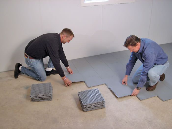 Basement Sub Floor Matting Options In Manchester Boston