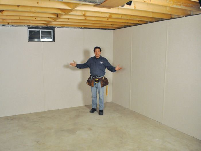 ... Somerville basement insulation covered by EverLast™ wall paneling with SilverGlo™ insulation underneath & Basement To Beautiful Insulated Wall Panels In Lowell Manchester ...