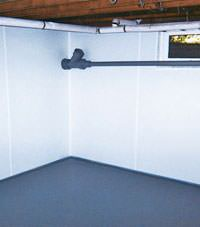 Plastic basement wall panels installed in a Haverhill, Massachusetts & New Hampshire home