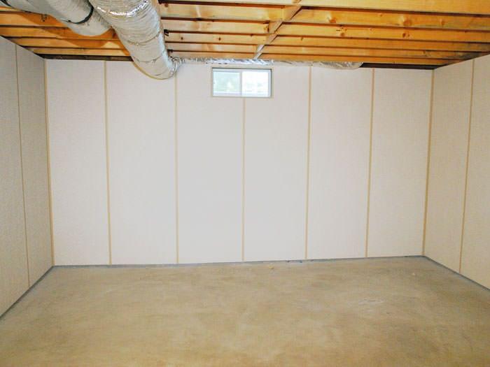 zenwall insulated basement wall panels installed in lowell basement finishing cost boston
