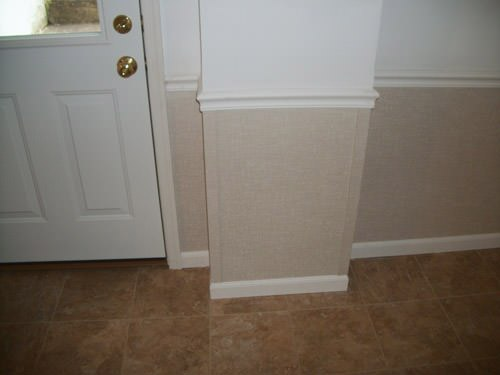 a bright white washable basement wall covering that does not adhere to the walls and resists mold & rot for Beverly homeowners