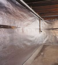Radiant heat barrier and vapor barrier for finished basement walls in Haverhill, Massachusetts & New Hampshire